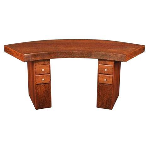 art deco desk l curved art deco desk made of palmwood for sale at 1stdibs