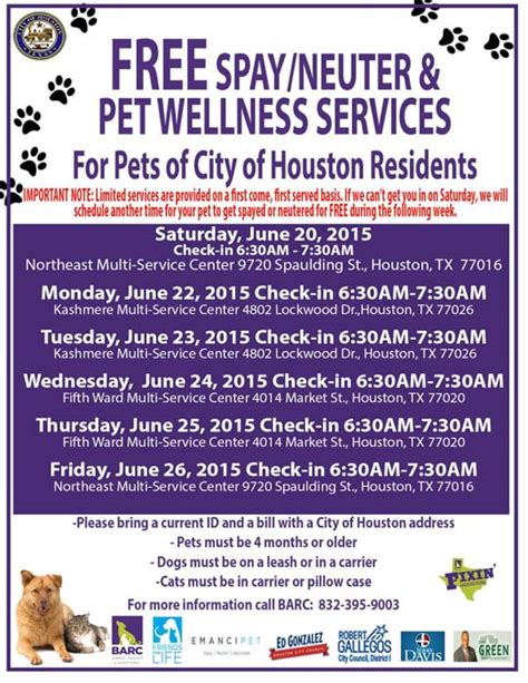 Free Spayneuter For Pets Of Houston Residents Abc13com