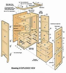 Woodwork Armoire Woodworking Plans PDF Plans