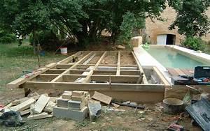 Support Terrasse Bois : support terrasse bois piscine fages ma onnerie ~ Premium-room.com Idées de Décoration