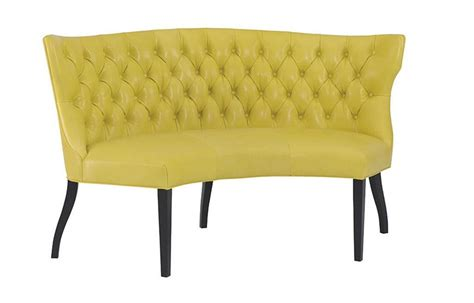 Curved Settee Bench by Curved Settee For Dining Table