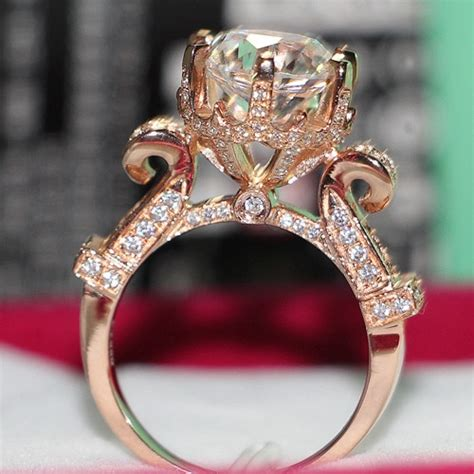 threeman 4ct authentic moissanite synthetic diamonds ring