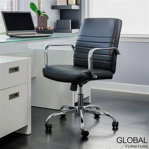 global furniture task office chair global furniture bonded leather task chair in black 28947