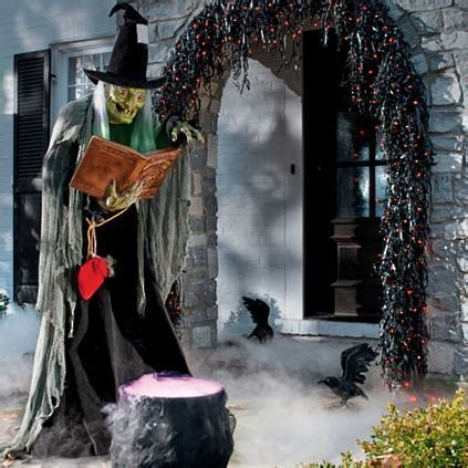 Lifesize Spell Casting Witch Animated Figure  Grandin Road