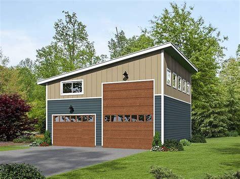 Plan De Garage Avec Loft by 062g 0076 Modern Rv Garage Plan With Loft Garage Plans