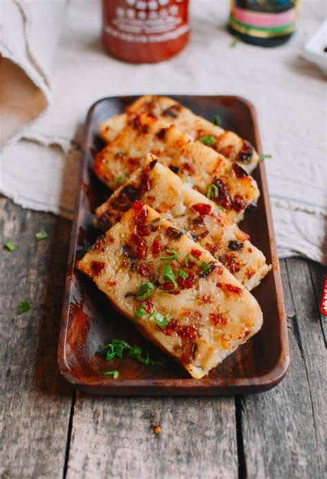 turnip cake chinese lo bak  recipe food dimsum