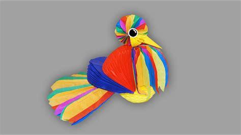 vogel basteln aus papier vogel aus papier bastelanleitung