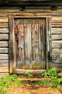 Rustic, Wooden, Door, At, Old, World, Wisconsin, Painting, By, Christopher, Arndt