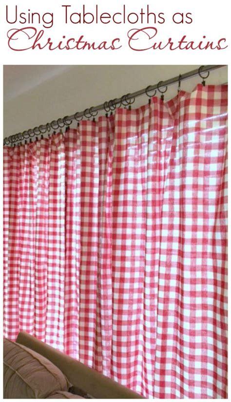 use tablecloths for curtains pillows create