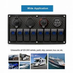 12v 24v Boat Marine 8 Gang Led Rocker Switch Panel Circuit
