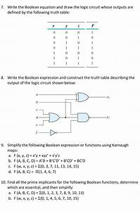 Solved  7  Write The Boolean Equation And Draw The Logic C