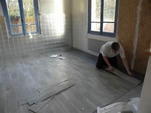 parquet gris pas cher le bois chez vous With parquet à clipser pvc