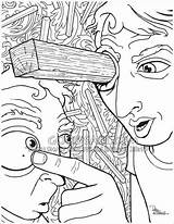 Plank Eye Coloring Pages Bible Speck Sketches Sawdust Eyes Colouring Own Christian Medium Brother Why Quote Goodsalt Firm Stand Attention sketch template