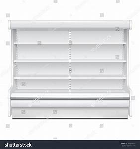 Cooled Regal Rack Refrigerator Wall Cabinet Stock Vector ...