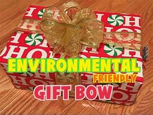 DIY Easy Eco Friendly Christmas Present Gift Bow