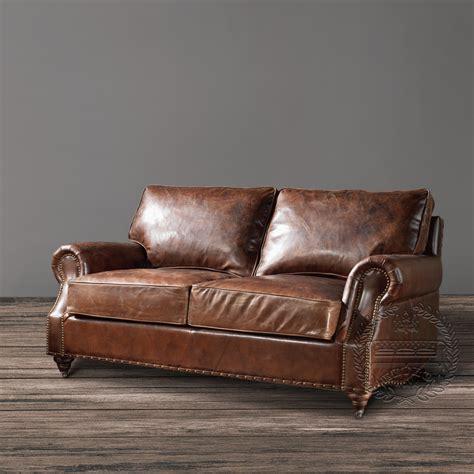 vintage sectional sofa distressed leather sofa vintage leather sofa 3256