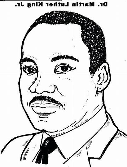 Luther Martin King Coloring Jr Colorear Pages