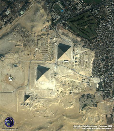 quickbird satellite image   giza pyramids satellite