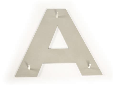 brushed metal letters craftcutscom