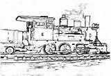 Steam Train Coloring Sketch Print Netart sketch template
