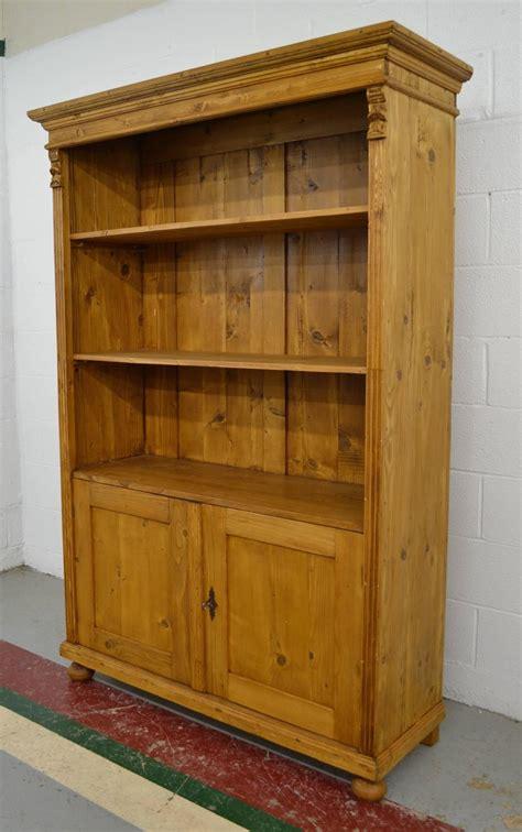 pine bookcase  doors  sale  stdibs
