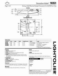 Decorative Wafer 10351 Manuals
