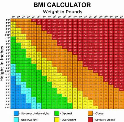 Bmi Joint Weight Height Chart Different Showing