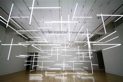 hollow lands geometric light installation