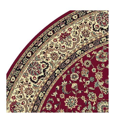 tappeto rotondo rosso tappeto isfahan classico rotondo medaglione rosso 12217