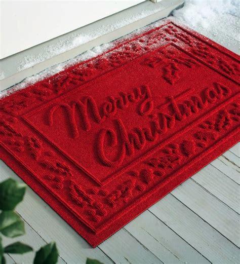 Merry Doormat by Absorbent Waterhog Snowflake And Merry Door