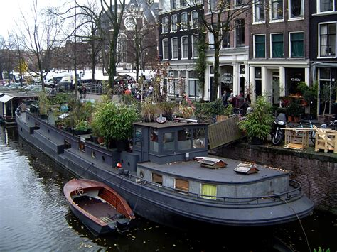 Living On A Boat In The Netherlands by Houseboat Hausboot Barge Battleship