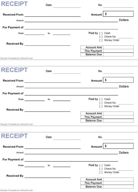 generic receipt template receipt template  receipt