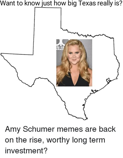 Amy Schumer Memes - want to know just how big texas really is k cl amy schumer meme on sizzle