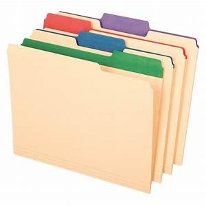 Pendaflex Color Tab File Folders, Letter Size, 1/3 Cut, 12 ...  File