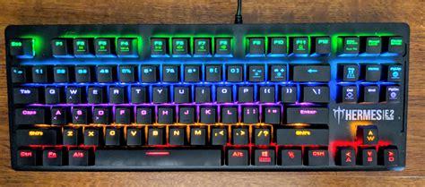 gaming in color gamdias hermes e2 7 color mechanical gaming keyboard review