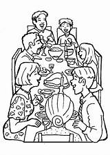 Coloring Dinner Pages Together Drawing Diner Families Sketch Printable Print Template Getdrawings Getcolorings Colorings sketch template