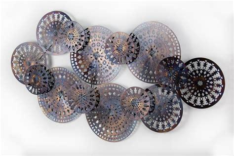 wanddeko metall ringe abstrakt wandskulptur wandobjekt