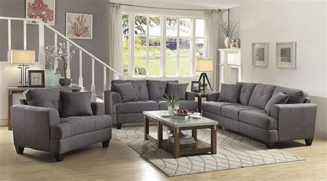 Grey Living Room Sets by Samuel Gray Living Room Set From Coaster Coleman Furniture