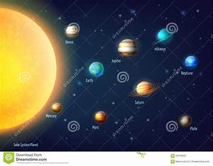Solar System Background Stock Vector - Image: 59166935