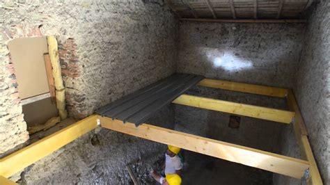dalle beton leger sur plancher bois plancher m 233 tallique sec woodeo bacacier