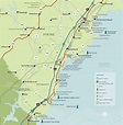 Plan Your Trip to Maine: Map of the Maine Beaches Region ...