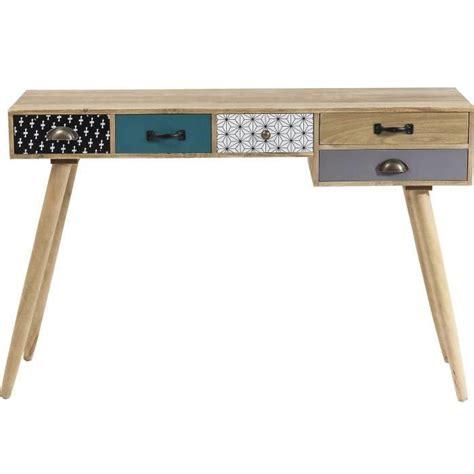 bureau blanc avec tiroir bureau console scandinave 5 tiroirs couleur achat