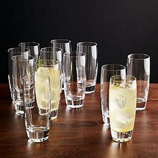 Set Of 12 Otis Tall Drink Glasses  Crate And Barrel