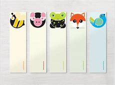 Animals bookmark set izzybizzyme