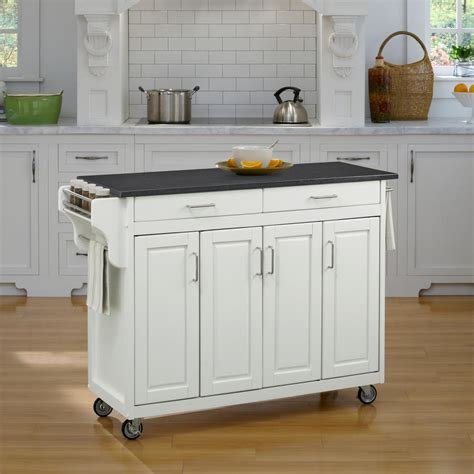 white kitchen cart crosley white kitchen cart with stainless steel top