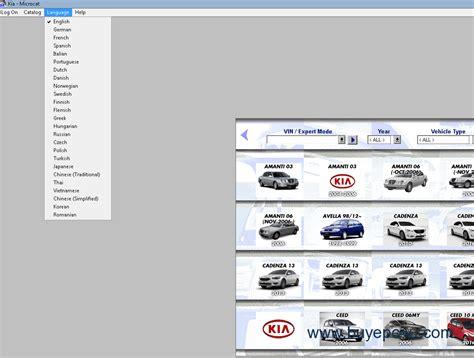 Kia Spare Parts by Kia Microcat Spare Parts Catalog 2017