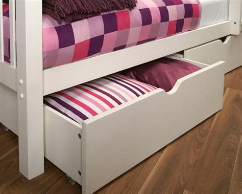 bed with drawers underneath limelight pavo pair of bed drawers white