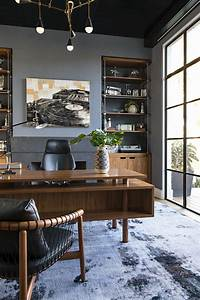 The, Owner, U2019s, Home, Office, Has, Custom, Brass, And, Walnut, Built