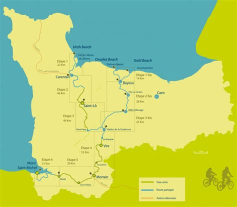 d day beaches to the mont michel cycle route historical route normandy tourism