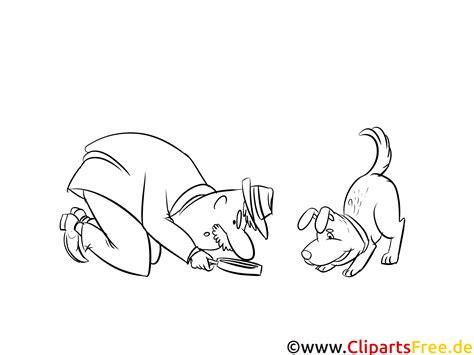 kleine hund detektiv bild clipart illustration zum